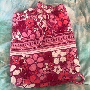 Vera Bradley Pink Floral Quilted Backpack